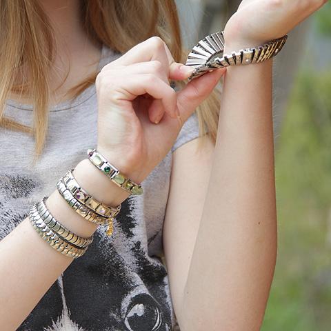 Стильные стальные браслеты - это отличный подарок современной  девушке Italian Charms