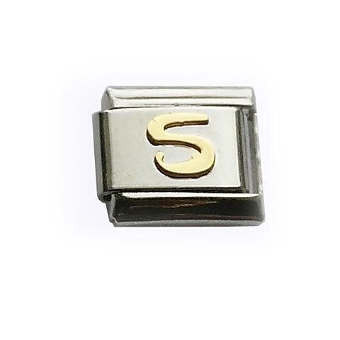 Звено для браслета с буквой S