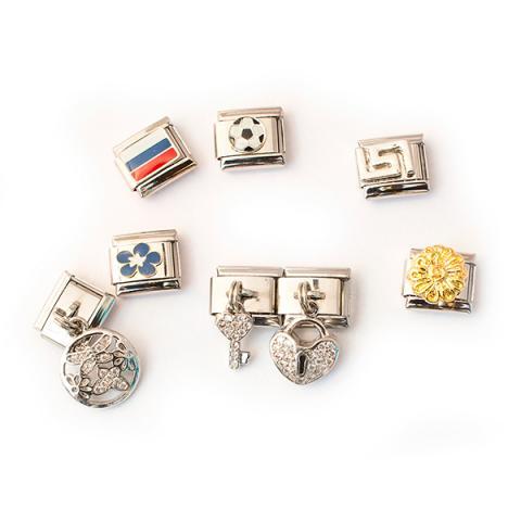 звенья для разборных стальных браслетов italian charms