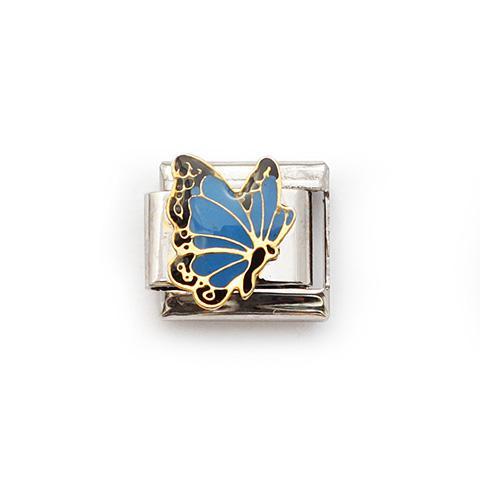Звено с красивой голубой бабочкой