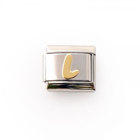 Звено для браслета с буквой L