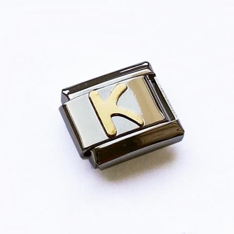 Звено для браслета с буквой K