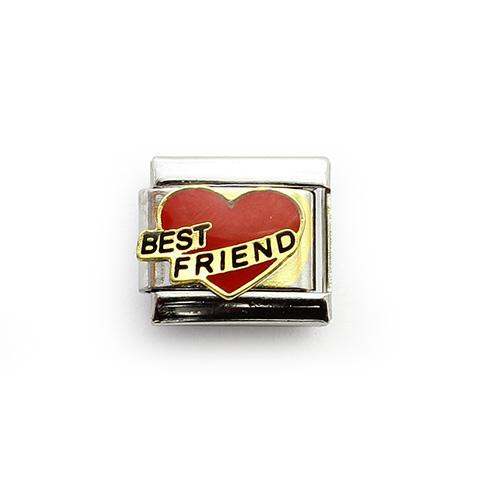 Звено с надписью на красном сердце Лучшие друзья