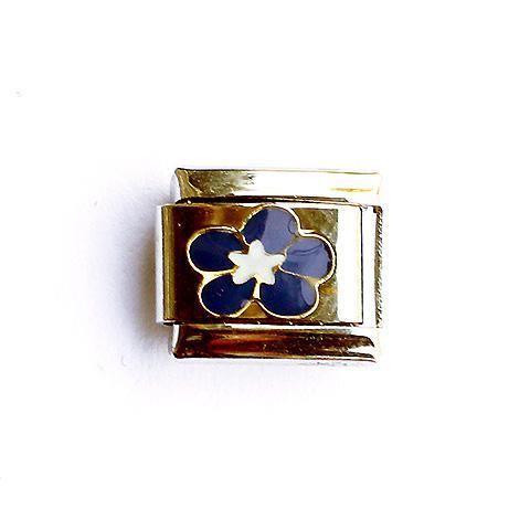 Звено с синим цветком