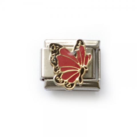 Звено с большой красной бабочкой