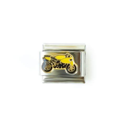 Звено с желтым мотоциклом