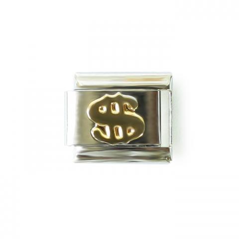 Звено с золотым знаком доллара