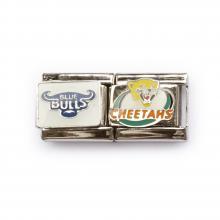 Звенья с логотипами команд регби The bulls, Cheetahs
