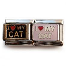 """Звено для браслета """"Люблю моего котика"""""""