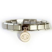 Стартовый браслет матовый с подвеской Знак зодиака Рак
