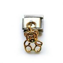 Звено для браслетов Nomination Italian Charms с позолоченной подвеской Мишка