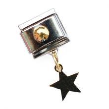Звено с подвеской золотой звездочкой