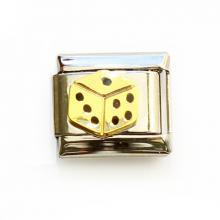 Звено для браслета с игровым кубиком